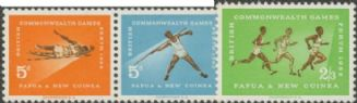 Papua New Guinea SG39a-41 Commonwealth Games set of 3 including pair